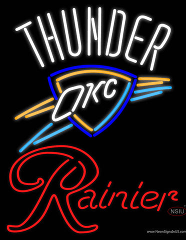 Rainier Oklahoma City Thunder NBA Neon Beer Sign