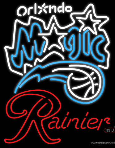 Rainier Orlando Magic NBA Neon Beer Sign