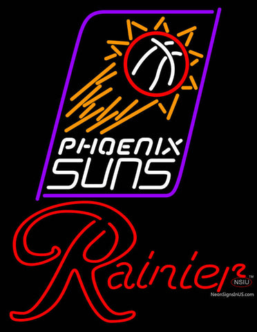 Rainier Phoenix Suns NBA Neon Beer Sign