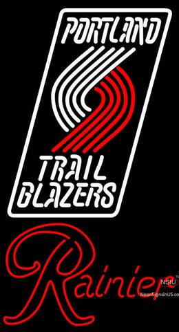 Rainier Portland Trail Blazers NBA Neon Beer Sign