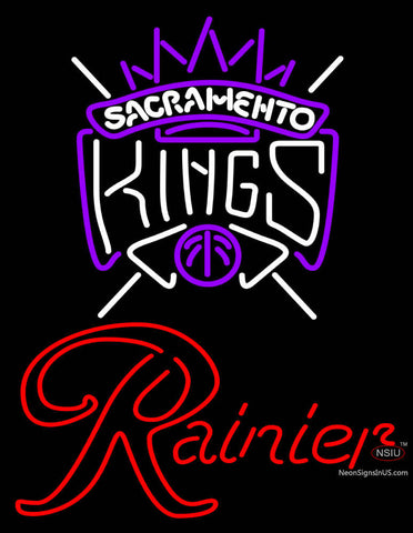 Rainier Sacramento Kings NBA Neon Beer Sign