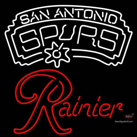 Rainier San Antonio Spurs NBA Neon Beer Sign