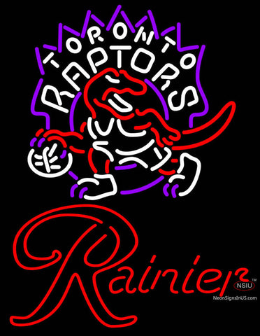 Rainier Toronto Raptors NBA Neon Beer Sign