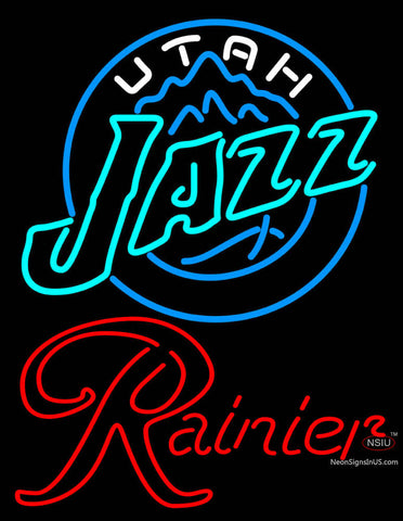 Rainier Utah Jazz NBA Neon Beer Sign
