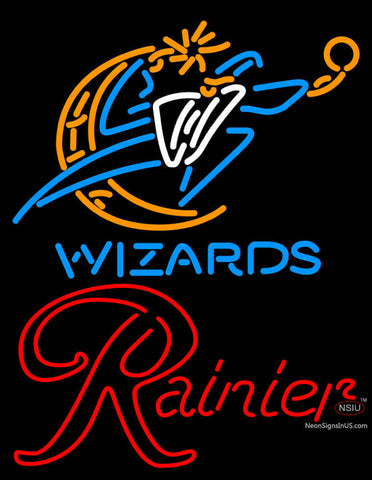 Rainier Washington Wizards NBA Neon Beer Sign