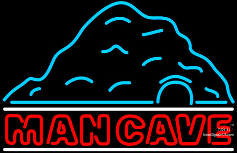 Rec Room Mountain Red Man Cave Neon Sign
