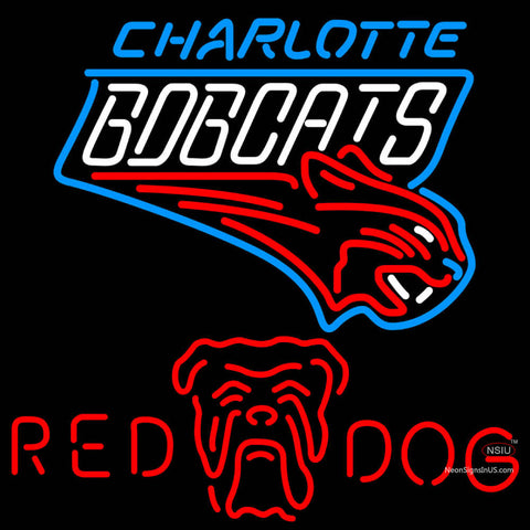 Red Dog Charlotte Bobcats NBA Neon Beer Sign
