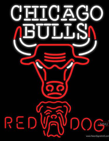 Red Dog Chicago Bulls NBA Neon Beer Sign