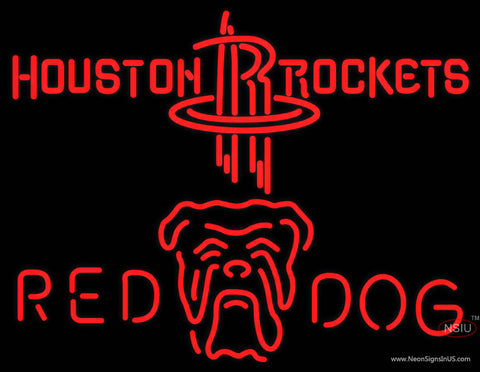 Red Dog Houston Rockets NBA Neon Beer Sign
