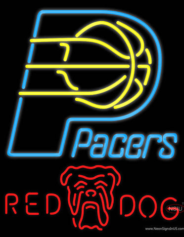 Red Dog Indiana Pacers NBA Neon Beer Sign