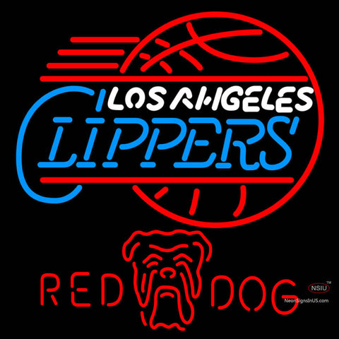 Red Dog Los Angeles Clippers NBA Neon Beer Sign