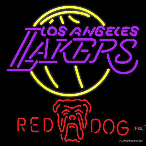 Red Dog Los Angeles Lakers NBA Neon Beer Sign