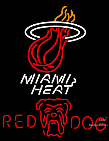 Red Dog Miami Heat NBA Neon Beer Sign