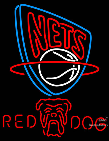 Red Dog New Jersey Nets NBA Neon Beer Sign