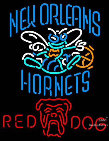 Red Dog New Orleans Hornets NBA Neon Beer Sign