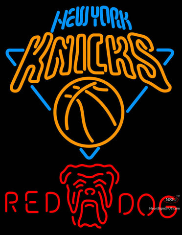 Red Dog New York Knicks NBA Neon Beer Sign