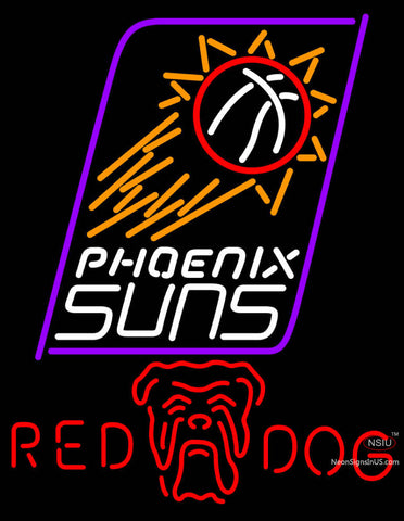 Red Dog Phoenix Suns NBA Neon Beer Sign