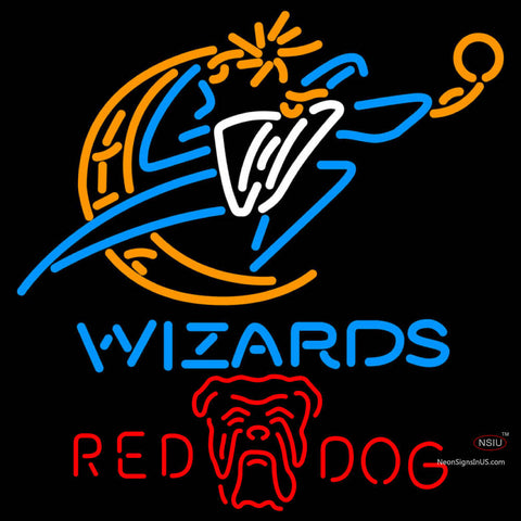 Red Dog Washington Wizards NBA Neon Beer Sign