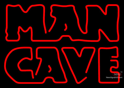 Red Man Cave Neon Sign