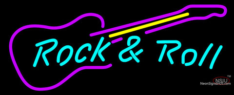Rock N Roll Guitar Neon sign