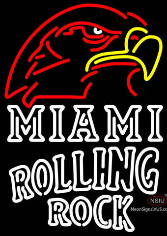 Rolling Rock Double Line Miami UNIVERSITY Fall Session Neon Sign