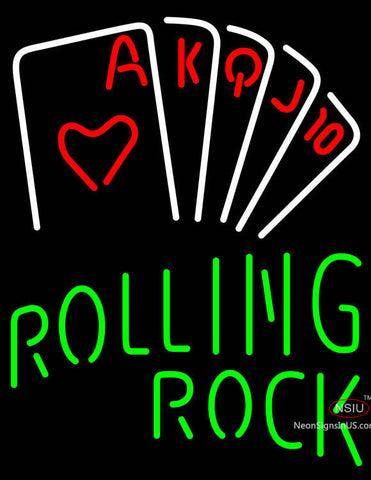 Rolling Rock Poker Series Neon Sign