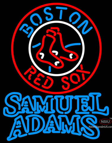 Samual Adams Double Line Boston Red Sox MLB Neon Sign  7