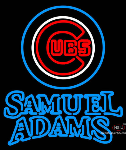 Samual Adams Double Line Chicago Cubs MLB Neon Sign