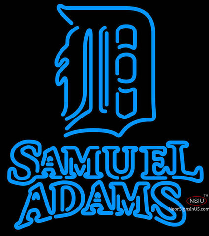 Samual Adams Double Line Detroit Tigers MLB Neon Sign