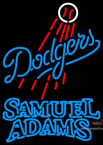 Samual Adams Double Line Los Angeles Dodgers MLB Neon Sign