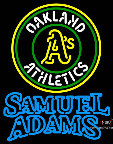 Samual Adams Double Line Oakland As MLB Neon Sign