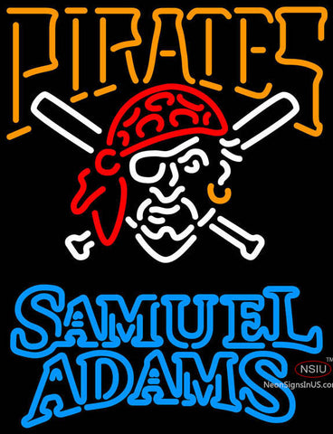 Samual Adams Double Line Pittsburgh Pirates MLB Neon Sign
