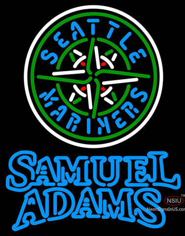 Samual Adams Double Line Seattle Mariners MLB Neon Sign