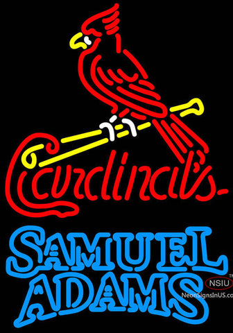 Samual Adams Double Line St Louis Cardinals MLB Neon Sign