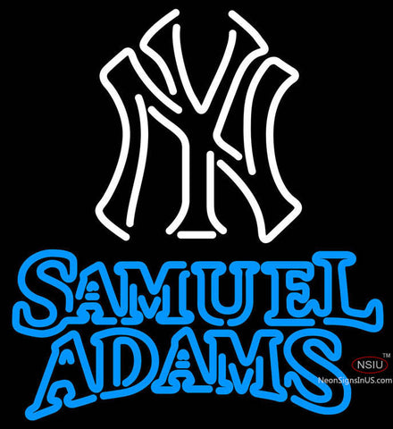 Samual Adams Double Line White MLB Neon Sign