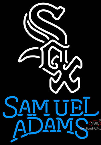 Samual Adams Single Line Chicago White Sox MLB Neon Sign