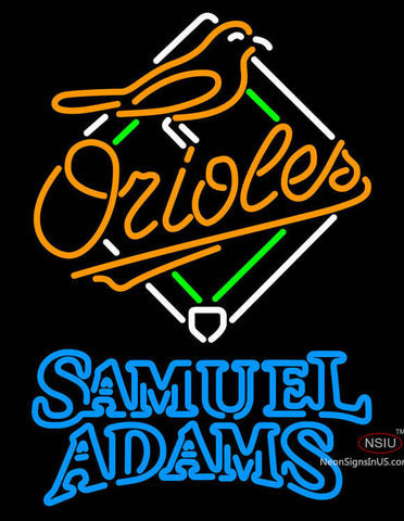 Samual Adams Double Line Baltimore Orioles MLB Neon Sign  7