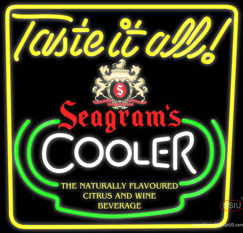 Seagrams Swag Juice Neon Wine Coolers Sign