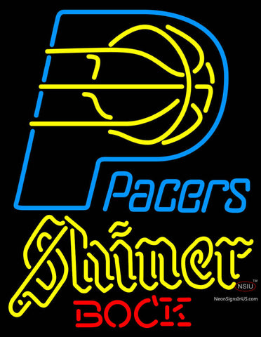 Shiner Indiana Pacers NBA Neon Beer Sign