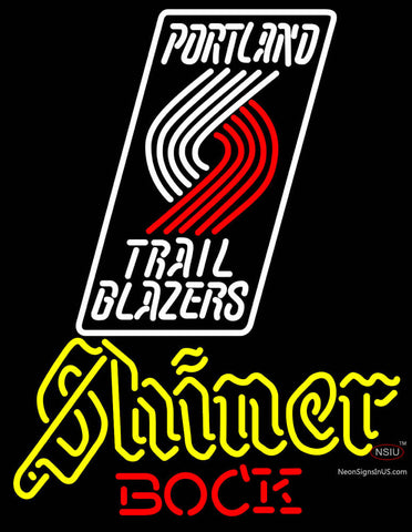 Shiner Portland Trail Blazers NBA Neon Beer Sign