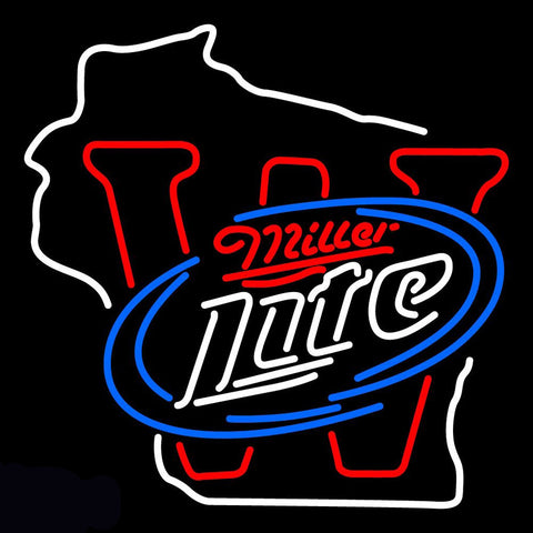 Wisconsin Miller Lite Neon Sign