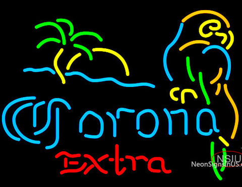 Corona Extra Parrot with Palm Neon Beer Signs