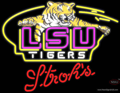 strohs awesome lsu tigers logo university neon sign neonsigns usa inc