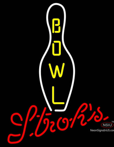 Strohs Bowling Neon Sign