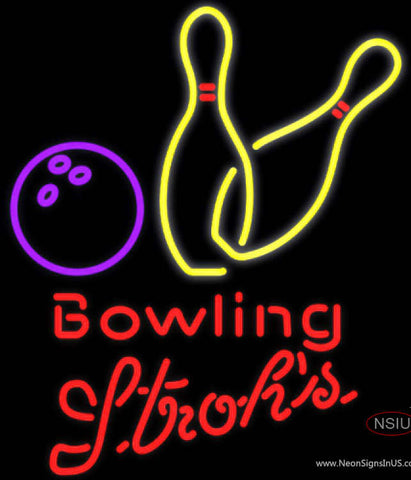 Strohs Bowling Neon Yellow Neon Sign  7