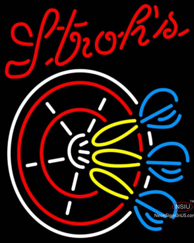 Strohs Darts Pin Neon Sign