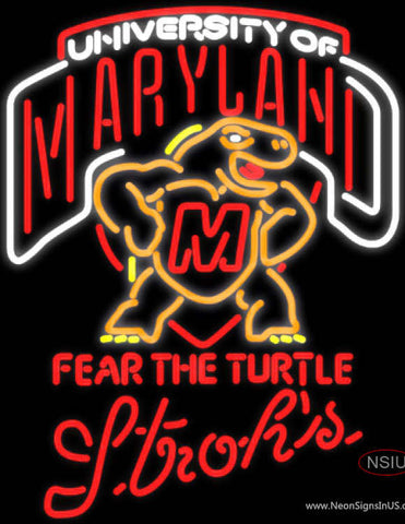 Strohs Maryland Turtle UNIVERSITY Neon Sign