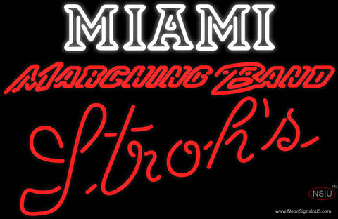 Strohs Miami UNIVERSITY Band Board Neon Sign