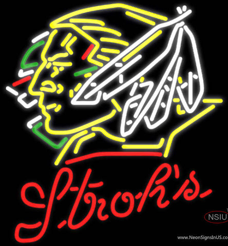 Strohs North Dakota Fighting Sioux Hockey Neon Sign  7