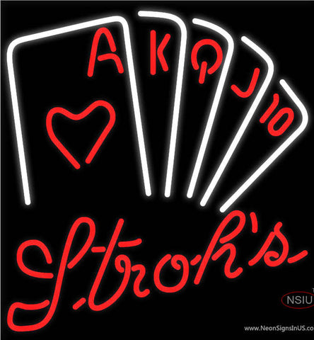Strohs Poker Series Neon Sign